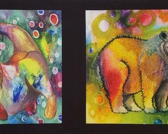 Living Wild -- Hexified Panel Quilt kit