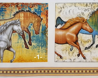 Mustang Sunset -- Hexified Panel Quilt Kit