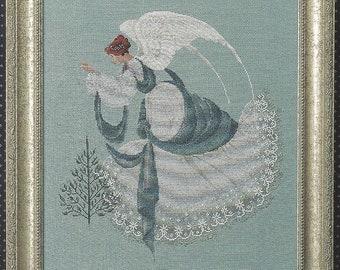 Ice Angel Cross Stitch Pattern by Lavender & Lace