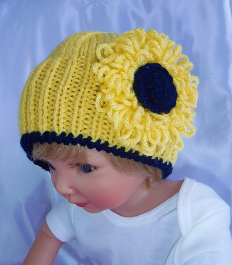 7f1c3d998cb 3 Models Knitted Baby Hats...Handmade...Girl Hats...3 6