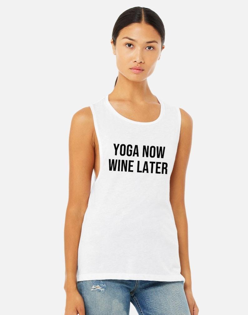 Yoga Wine Shirt  Yoga Tank Top  Funny Yoga Shirt  Yoga Gift image 0