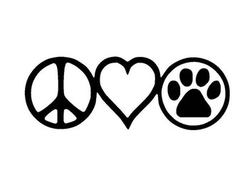 Peace Love Dogs Vinyl Decal/Sticker