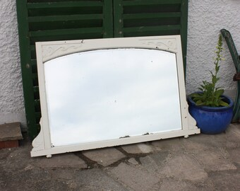 Lovely large French look antique vintage Victorian mirror