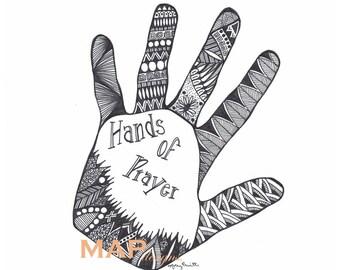 Mandala, Handmade Hands of Prayer