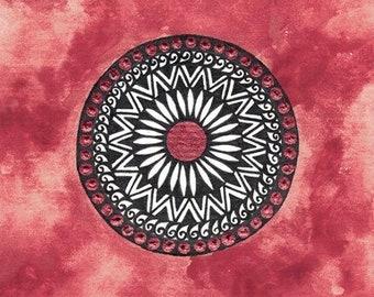 Mandala, Handmade Watercolor
