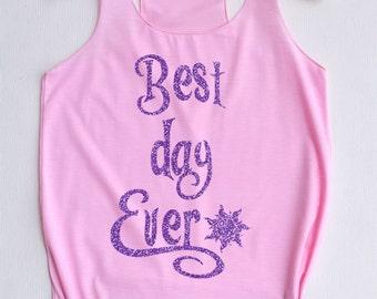 Glitter Best day ever : Disney tank tops/Disney t-shirt/Disney shirts for women/Disney family shirts/Disney shirts for kids/Kid t-shirt