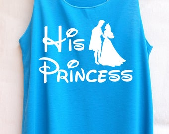 Flock His princess Aurora : Disney tank tops/Disney t-shirt/Disney shirts for women/Disney family shirts/Disney shirts for kids/Kid t-shirt