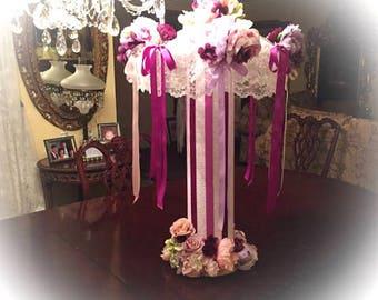 bridal shower umbrella or baby shower centerpiece