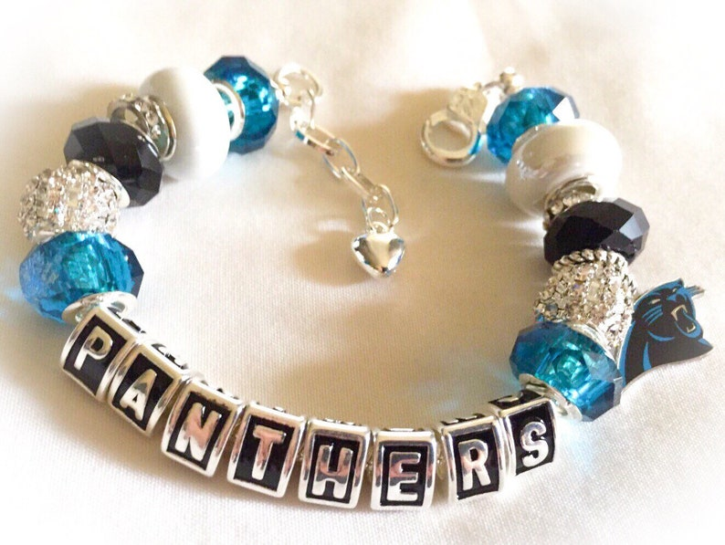 46e1de50 North Carolina Panthers jewelry bracelets Panthers body Bling. and handmade  The Ultimate INSPIRED Silver adjustable bracelets