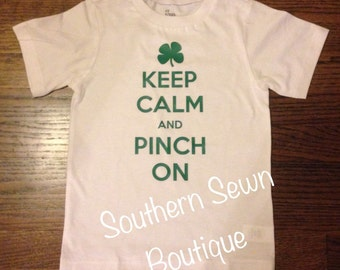 Keep Calm & Pinch On Short Sleeve St. Patrick's Day Shirt