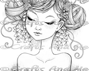 Digital Stamp - Instant Download - Butterfly Wings - Fantasy Line Art for Cards & Crafts by Artist Jeremiah Ketner for Crafts and Me