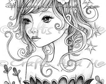 Digitalen Stempel - sofort-Download - Wandern mit Ihnen - Fantasy Linie Kunst für Karten und Kunsthandwerk von Künstler Jeremiah Ketner für Handwerk und mich