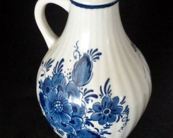 Pottery & China Vintage Blue White Delft Handpainted Holland Pierced Bowl Dish Windmill Design Convenience Goods
