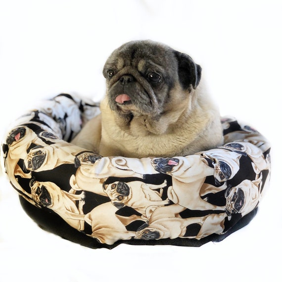 Prime Pug Dog Round Pet Bed Group One Dog Gallery Machost Co Dining Chair Design Ideas Machostcouk