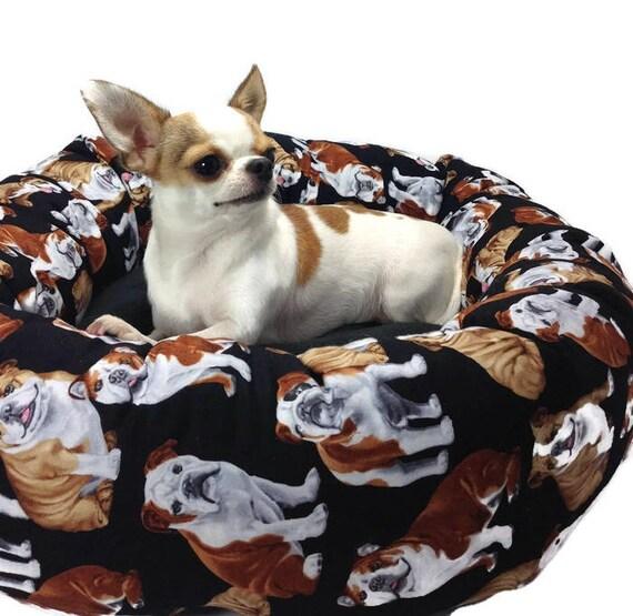 Bulldog anglais Bully tour de lit pour animaux de | Etsy