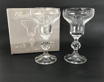 Import Associates Crystal Claudia Pattern Brandy Glass Set Evident Effect Glass Other Bohemian/czech Art Glass