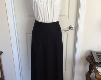 64e6985727 Vintage 90s Black Hippie Maxi Skirt Boho Skirt Black Skirt Skirt in  Polyester and Spandex, Lined Made in Canada