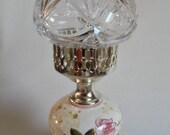 Waterford Belmont Hurricane Lamp Crystal Globe