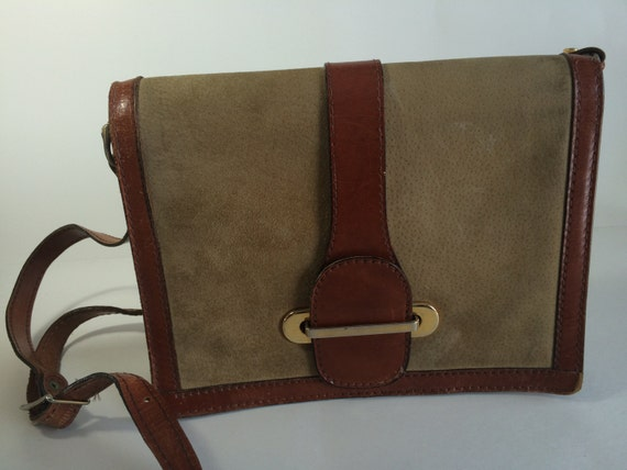 75d2ae0fa85a1 Vintage Fournier Italian Suede and Real Hide Two Tone Leather