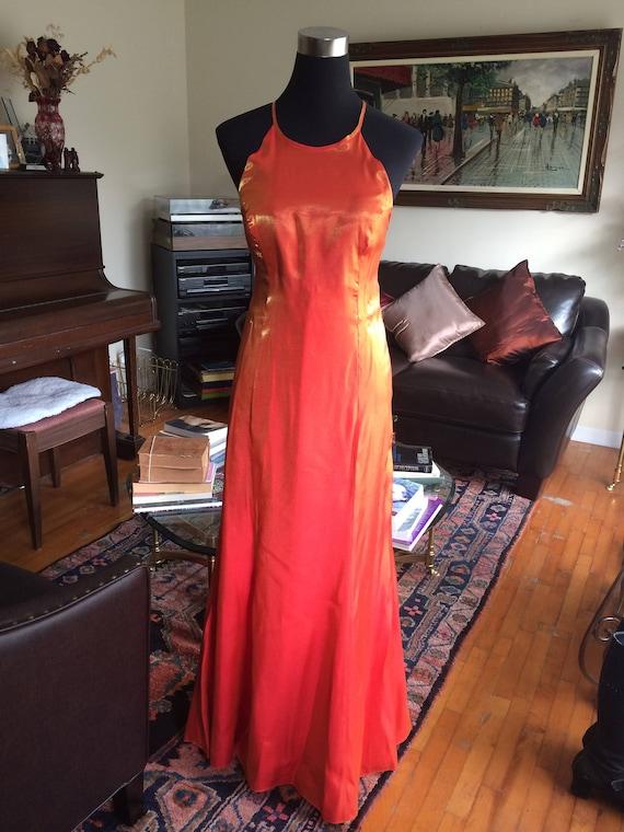 Vintage 1970s 1980s Dress, Metallic Lurex Dress Or