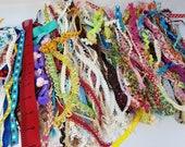 Clearance ribbon and trim grab bag, trim remnant for DIY,junk journal,decoration.Grab bag of mix color.