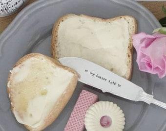 My Butter Half - Hand Stamped Engraved Knife - Vintage Jam, Butter or Marmalade Knife