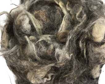 Scoured Grey Gotland Fleecewool suitable for Needle Felting, hand spinning and other craft uses 100g
