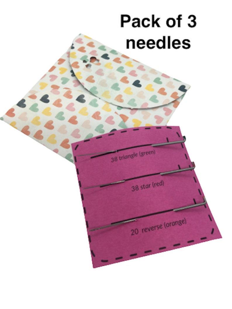 Needle Felting Needles Pack of 2 or 3 FREE UK POSTAGE