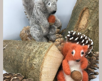 Needle Felting Squirrel Kit - Challenging Kit for those with experience of felting
