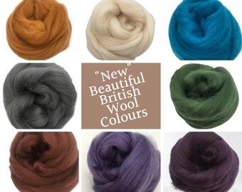 Shetland Top Roving new colours for Needle Felting and wet felting 50g