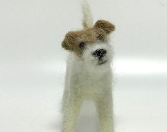 Jack Russell dog needle felting kit - Challenging Kits