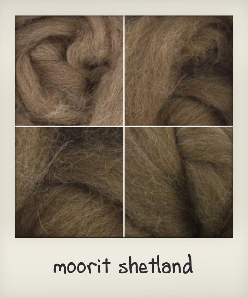 Shetland wool tops in four colours suitable for Needle Felt image 0