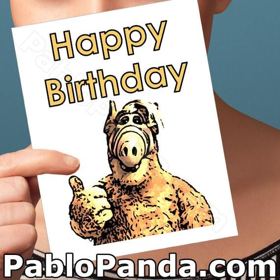 Alf Funny Birthday Card Willie Tanner Funny Birthday Gift Etsy