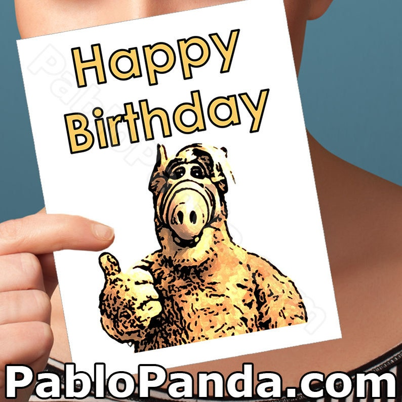 Alf Funny Birthday Card Willie Tanner Funny Birthday Gift Etsy