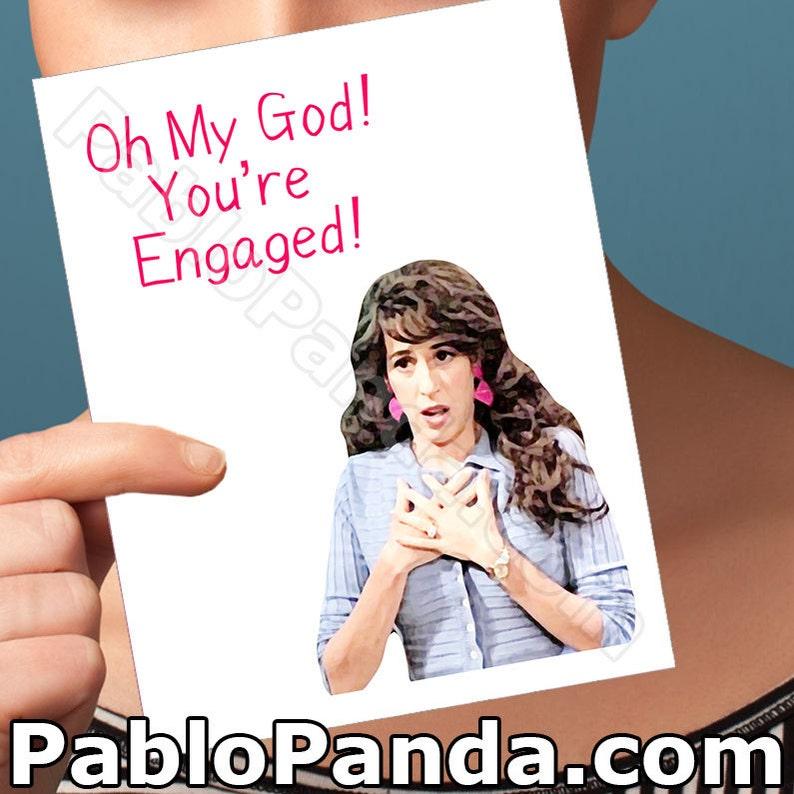 Friends Tv Show Engaged Card Friend Janice Engagement Best