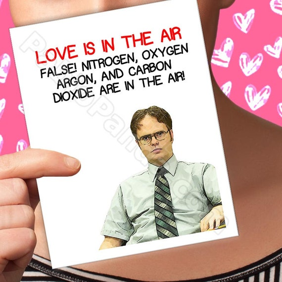 Funny Valentines Card The Office 00 Dwight Etsy