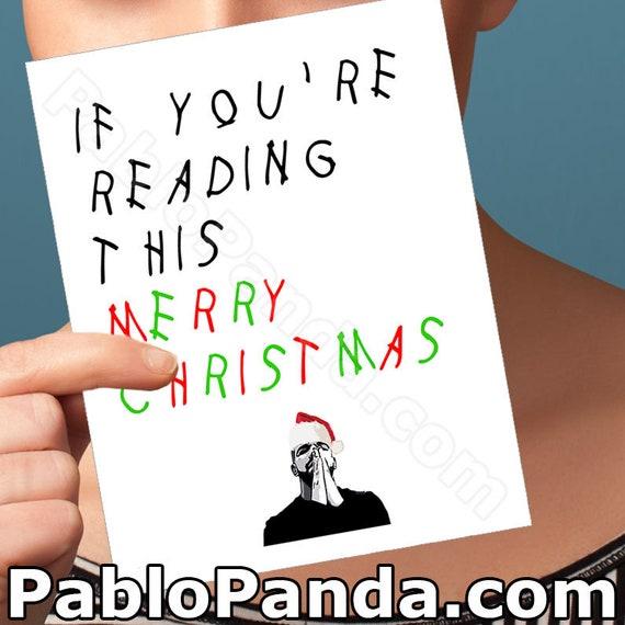 Drake Karte Frohe Weihnachten Freund Freund Geburtstag | Etsy