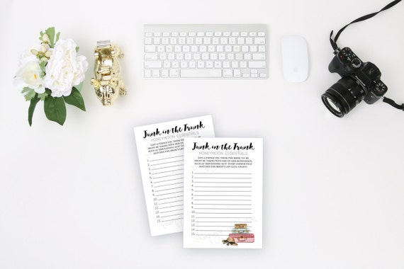 image regarding Printable Trunk Party Games called Bridal Shower Sport Generate Topic Junk inside the Trunk Wedding day