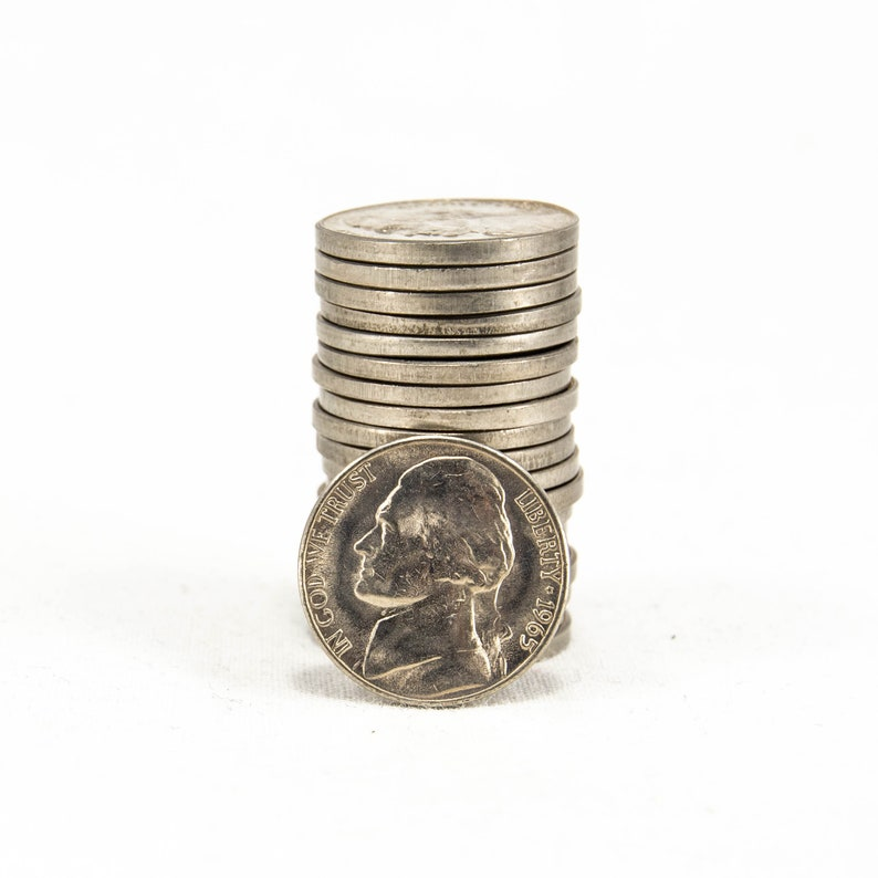 1965 Five Cents Nickel FROM ROLL