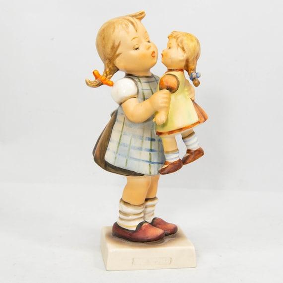 Kiss Me Hummel Figurine #311 TMK-4 Little Girl Holding Doll 1955