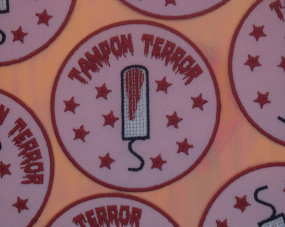 Tampon Terror Club Iron on Patch