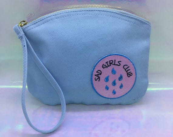 Baby Blue Sad Girls Club Make Up Bag
