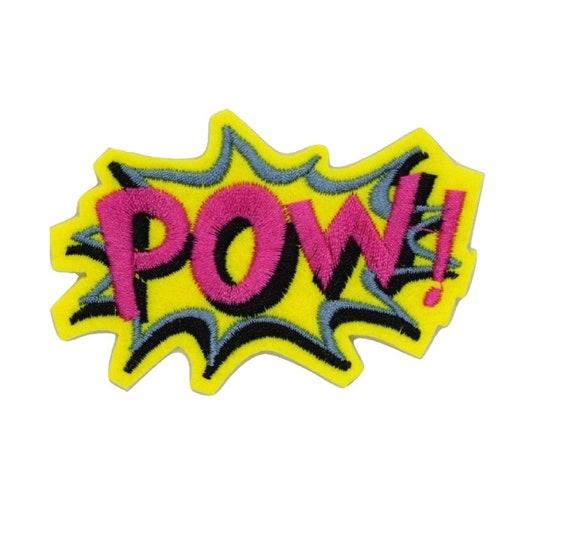 Pow Iron on Patch