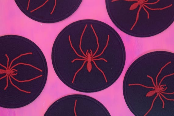 Red Spider Iron on Patch