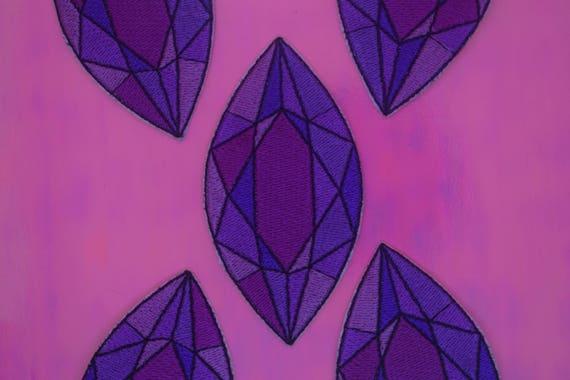 Purple Jewel Iron on Patch