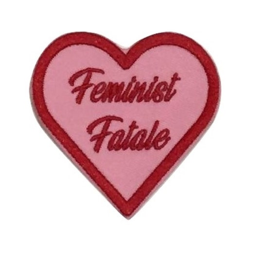 Feminist Fatale Heart Iron on Patch