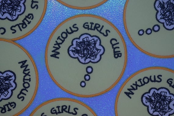 Anxious Girls Club Iron on Patch