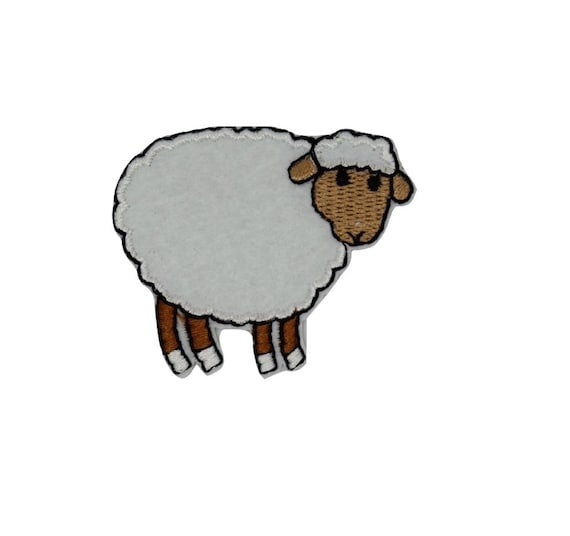 White Sheep Iron on Patch
