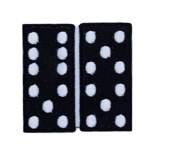 Dominoes Iron on Patch