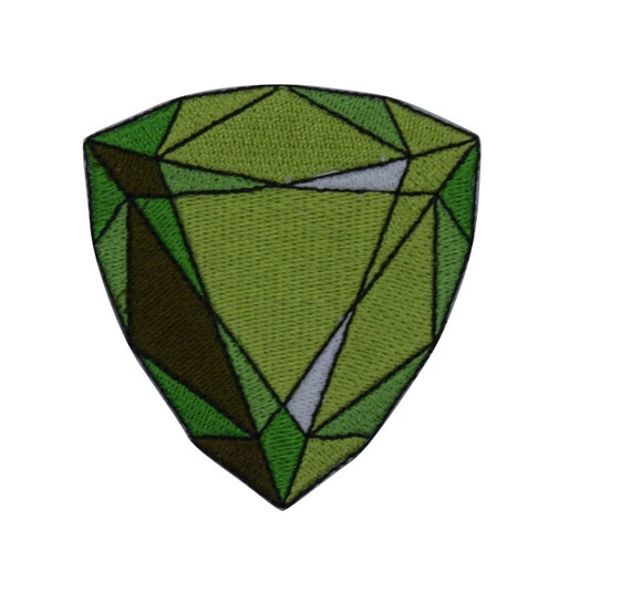 Emerald Gemstone Iron on Patch